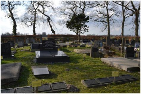 Begraafplaats Roderwolde met het zicht op het westen.